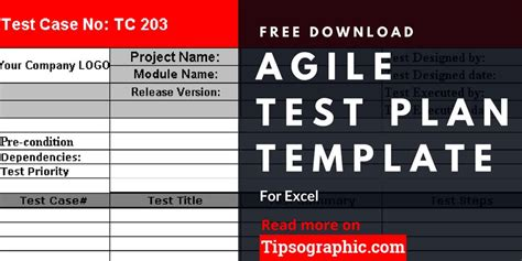 Agile Test Plan Template For Excel Free Download Tipsographic Agile Test Plan Template