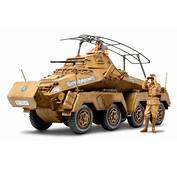"1/35 German 8 Wheeled Heavy Armored Car SdKfz232 ""Africa"