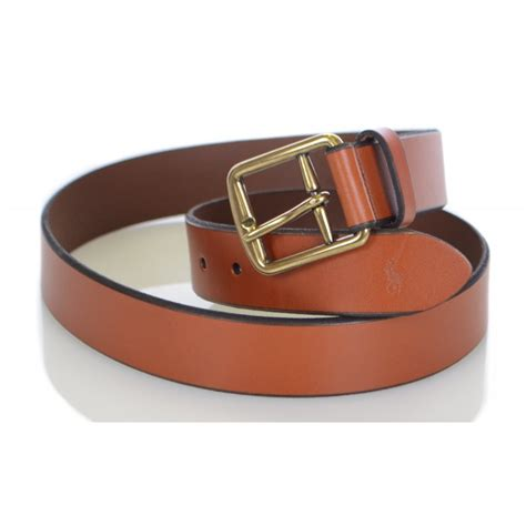 polo ralph leather saddle brown belt polo ralph