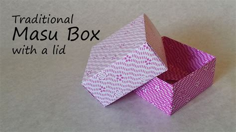 Origami Box With Lid Printable - origami masu box with lid tutorial
