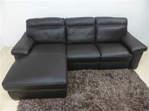 Natuzzi Leather Power Reclining Sectional by Natuzzi Editions Andria Leather 3 Seater Power Reclining