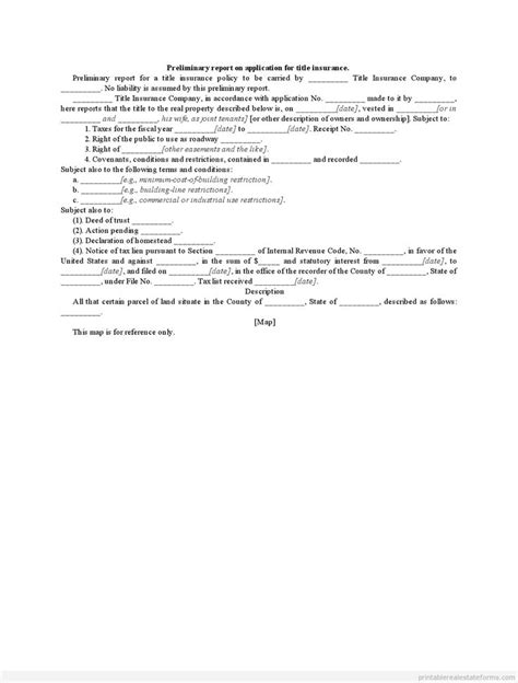 sle of preliminary report 902 best sle real estate forms images on