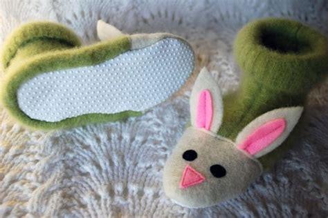 vire bunny slippers espa 231 o infantil artesanato infantil feltro