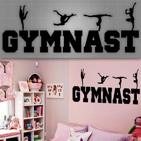 Gymnastics Wall Murals gymnast wall decal girls gymnast wall sticker girls room
