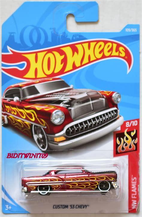 Hotwheels Bone Shaker 2018 Biru wheels 2018 hw flames 55 chevy yellow 0003511 2 33 biditwinit09 classic colections