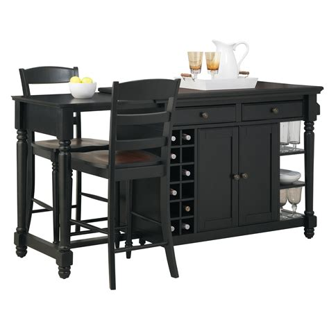 kitchen island sets darby home co cleanhill 3 kitchen island set