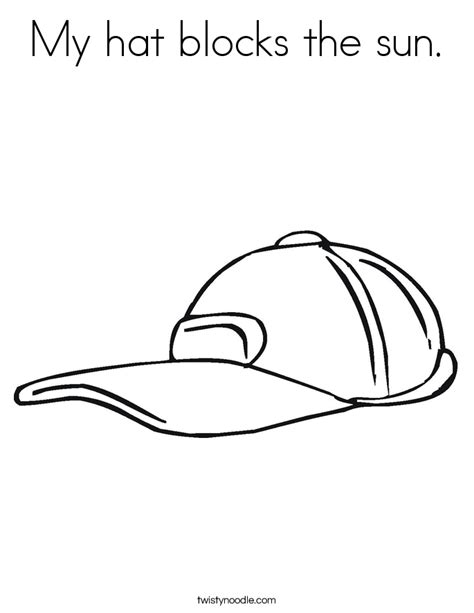 sun block coloring page my hat blocks the sun coloring page twisty noodle