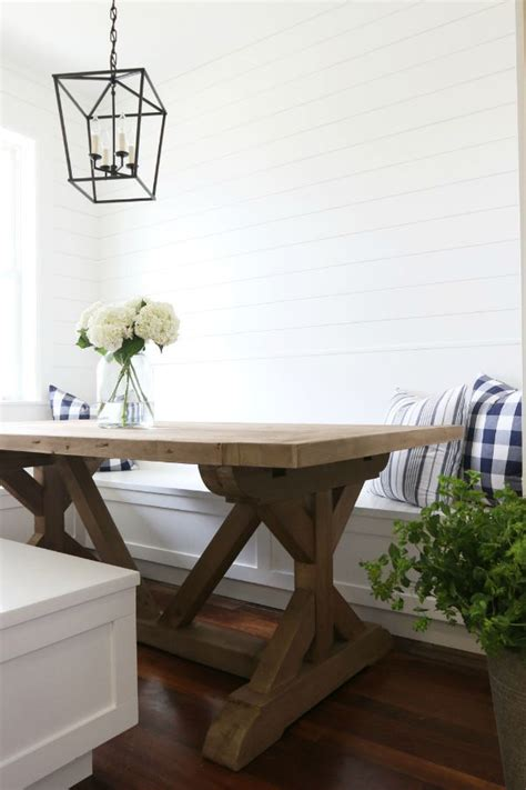 Upholstered X Bench - favorite farmhouse trestle tables amp progress on our kitchen banquette driven by decor