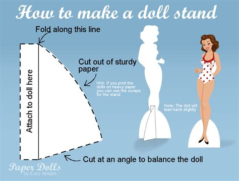 How To Make A Paper Doll Stand - paper doll stand paper dolls by toys