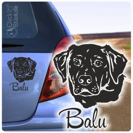 Auto Sticker Name by Labrador Name Auto Aufkleber Autoaufkleber Sticker Hund