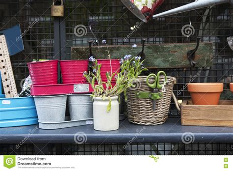 garden accessories on sale stock image image of scissors