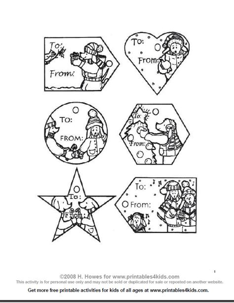 printable christmas tags to color 7 best images of free printable coloring gift tags free