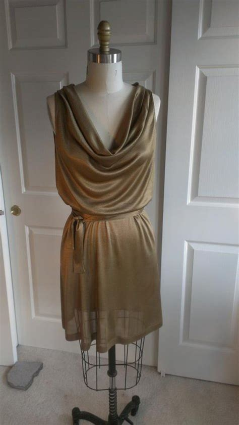 drape neck dress pattern gold drape neck dress sewing projects burdastyle com