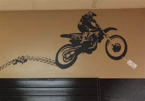 dirt bike home decor dirt bike with tracks vinyl lettering wall words stickers