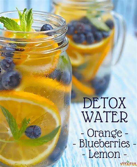 Lemon And Orange Detox Water Recipe by Detox Water Made With Orange Blueberries And Lemon