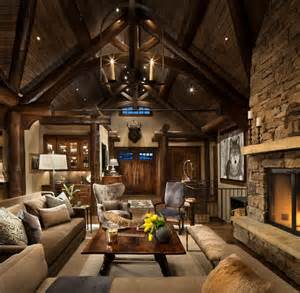 rustic livingroom mountain home remodel rustic living room other by