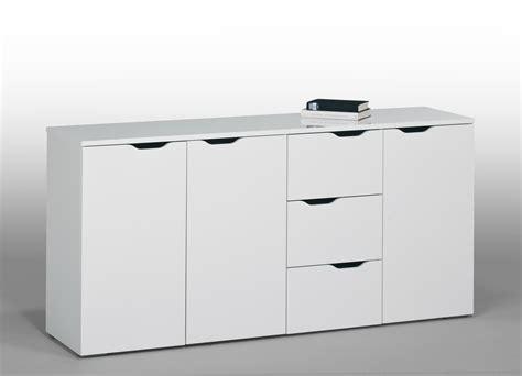 Meuble de rangement contemporain blanc 3 portes/3 tiroirs