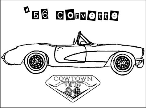 corvette coloring pages printable coloring pages