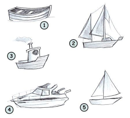 easy way to draw a boat drawing a cartoon boat
