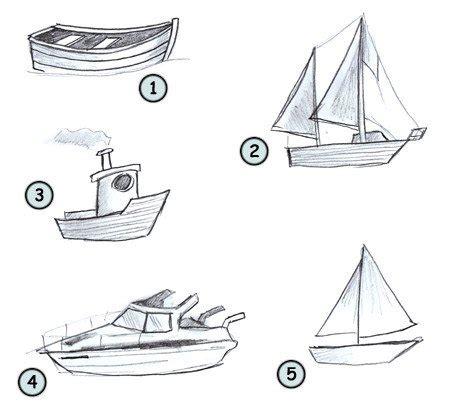 how to draw a narrow boat drawing a cartoon boat