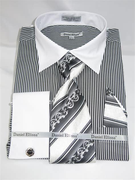 pattern french cuff shirts daniel ellissa ds3775 black men s french cuff dress shirt
