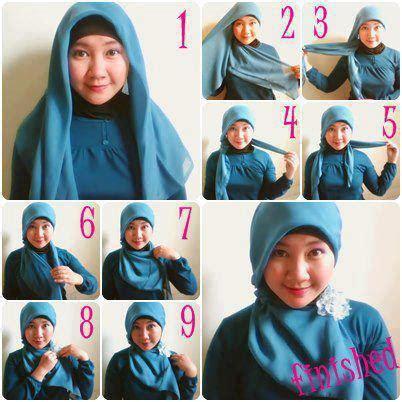 tutorial hijab segi empat untuk wajah bulat simple kiat mudah memilih model kerudung untuk wajah bulat