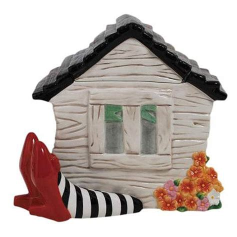 wizard of oz house wizard of oz house on legs cookie jar placero