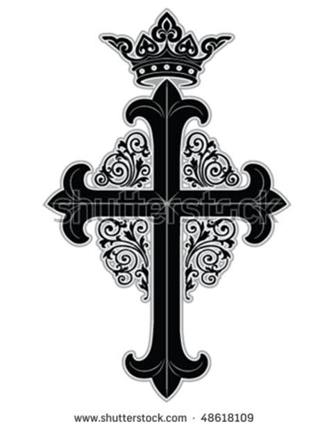 ornate cross tattoos cross tribal stock photos images pictures