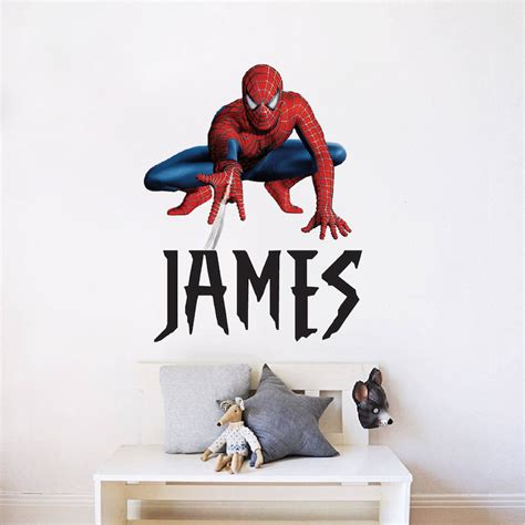 spiderman bedroom stickers custom superhero font name superhero name bedroom decals