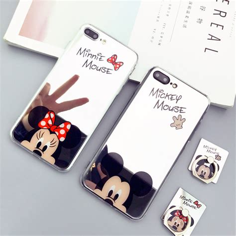 Iphone 6plus 6splus Luxury Mirror Ring Soft Casing Cover aliexpress buy new mirror mickey minnie