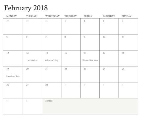 printable february 2018 calendar february 2018 calendar printable calendar template