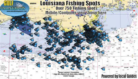 louisiana fishing maps with gps fishing spots
