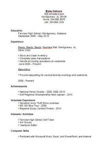 Exle Of A Resume For High School Student by Resume Objective Exles Entry Level Exle Of The