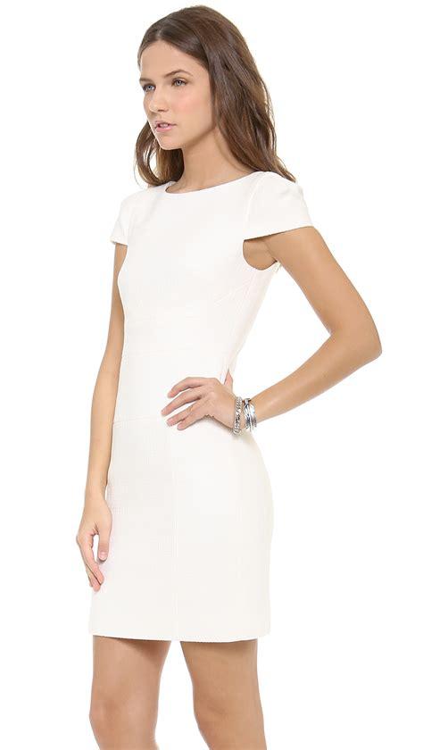 Sleeve Sheath Dress lyst 4 collective cap sleeve sheath dress in white
