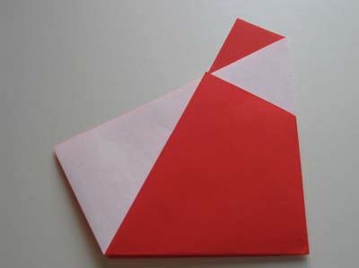 Easy Santa Origami - paper crafts for simple origami santa claus