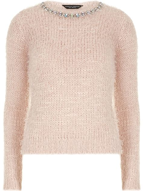 Topshop Vs Ysl The Lou Lou Braided Wedge And The Cheaper Alternative by Embellished Neck Fluffy Sweater 7 Fluffy Sweaters You Ll