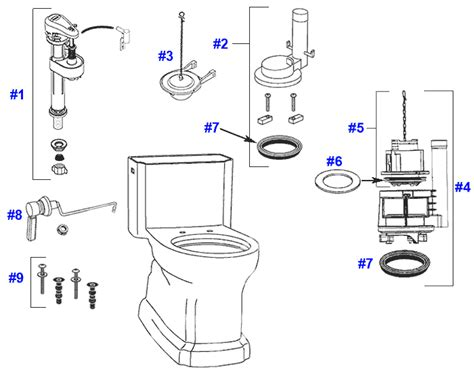 Toto Plumbing Parts by Toto Guinevere Toilet Replacement Parts