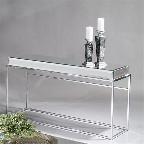 Entry Console Table With Mirror Narrow Entry Mirrored Console Table With Shelf And Stainless Steel Frame Plus Unique And Antique