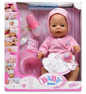 Baby born interactive girl doll with robe online toys australia