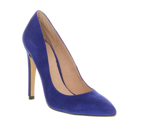 cobalt high heels office razzle cobalt blue suede high heels