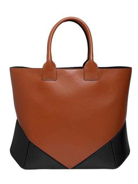 Givenchy Two Tone Purse by Lyst Givenchy Easy Two Tone Nappa Leather Tote Bag In Brown