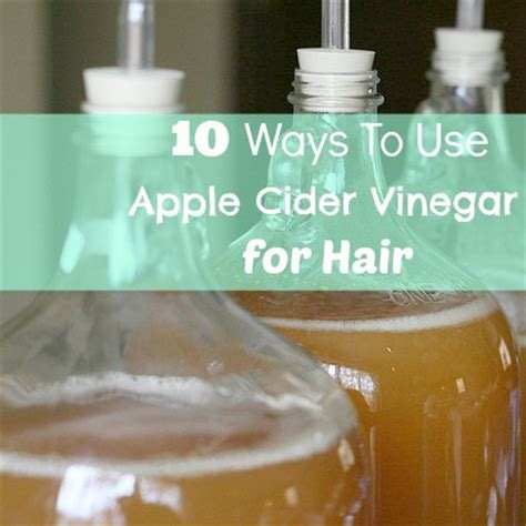 10 ways to use apple cider vinegar for hair babble