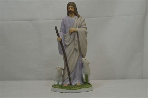 Home Interior Jesus Figurines Retired Home Interior Masterpiece Porcelain Figurine 1992 Jesus The Shepherd Cad 32 23