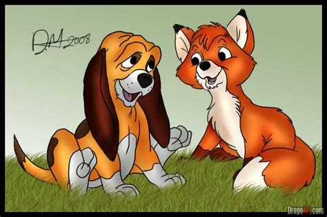 how to a hound how to draw the fox and the hound step by step disney characters draw