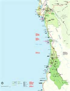 redwood national park map california map travel