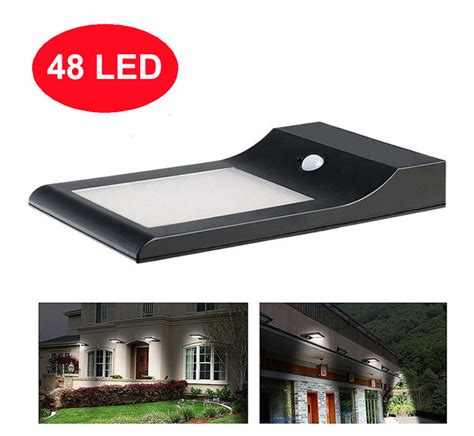custom led lighting residential led lights led 5w 48 led solar wall outdoor light with motion sensor for