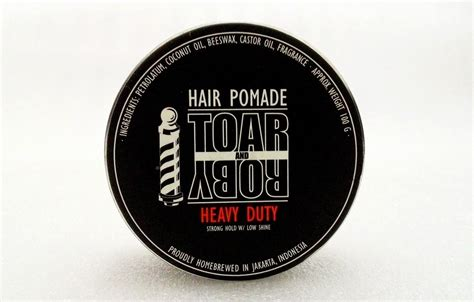 Minyak Pomade review pomade toar and roby heavy duty strong hold