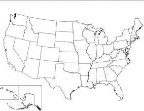 blank u s map worksheet