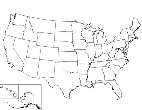 printable map of the united states black and white blank u s map worksheet