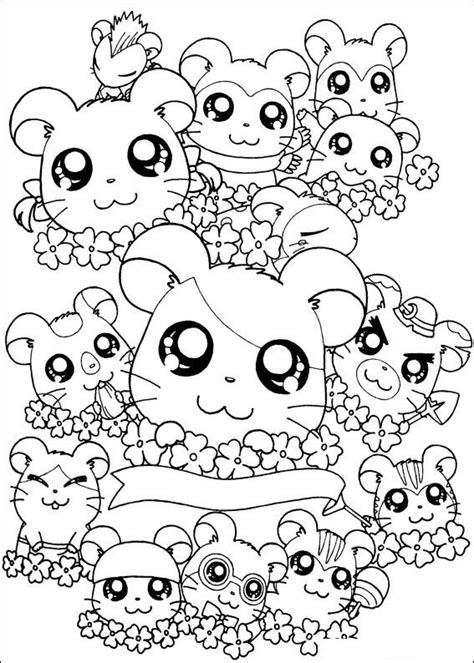 hard coloring pages cute food coloring pages kids n fun 32 kleurplaten van hamtaro